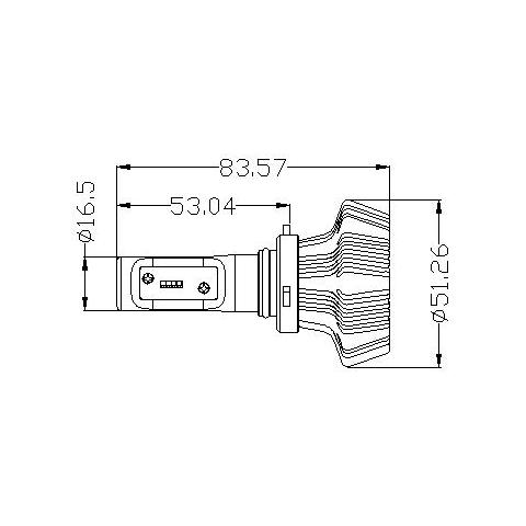 Набір світлодіодного головного світла UP-7HL-9005W-4000Lm (HB3, 4000 лм, холодний білий) Прев'ю 1