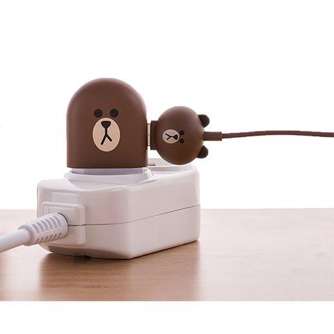 Micro-USB 5-контактний кабель для підключення смартфона (Line Friends – Brown) Прев'ю 2