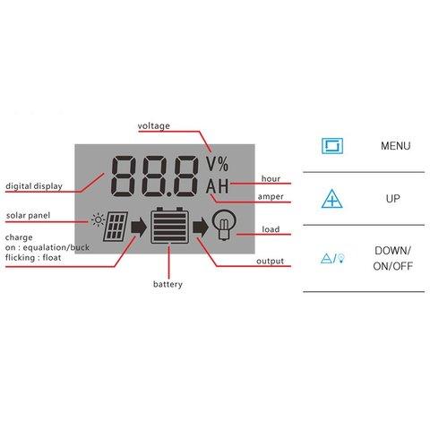 Контролер заряджання фотомодуля PVI-PWM-10A (10 A) Прев'ю 4