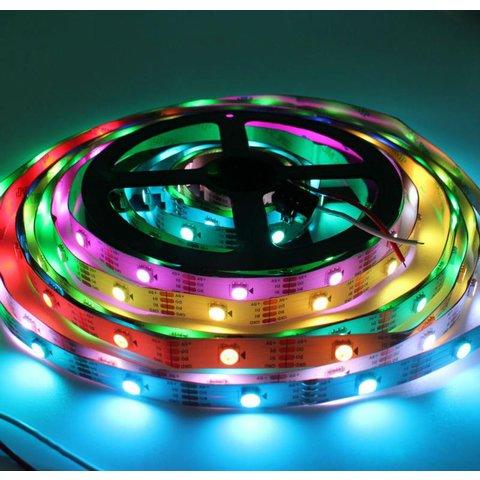 Світлодіодна стрічка RGB SMD5050, WS2813 (біла, з управлінням, IP20, 5 В, 30 діодів/м, 5 м) Прев'ю 2