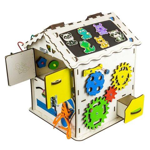 Бізіборд GoodPlay Будиночок для розвитку (30×30×40) Прев'ю 4