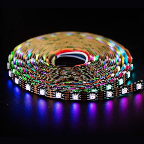 RGB LED Strip SMD5050, WS2815 (with controls, black, IP20, 12 V, 60 LEDs/m, 5 m) Preview 1